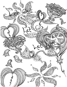 let it go colouring page